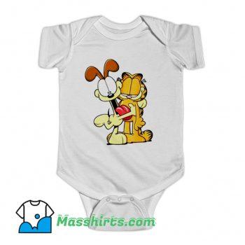 Original Garfield Odie Hugging Garfield Baby Onesie