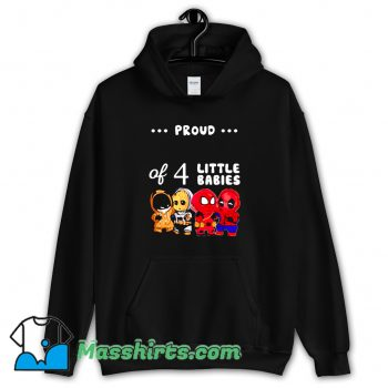 Funny Proud Of 4 Little Babies Spider-Man Hoodie Streetwear