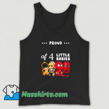 Vintage Proud Of 4 Little Babies Spider-Man Tank Top