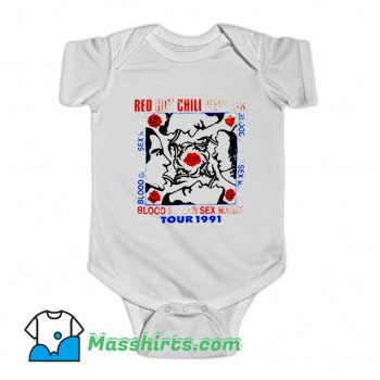 Classic Red Hot Chili Peppers Baby Onesie