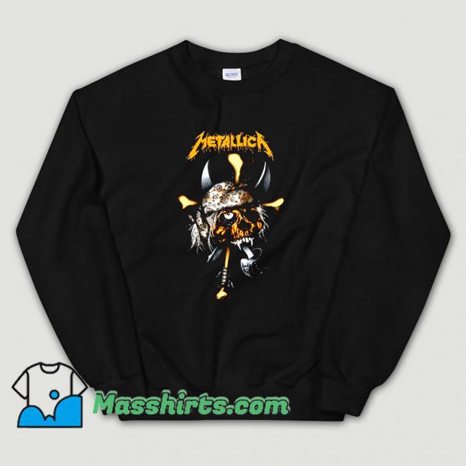 Classic Rock Metallica Pirate Skull Sweatshirt