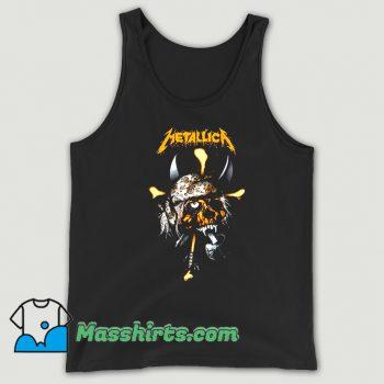 Awesome Rock Metallica Pirate Skull Tank Top