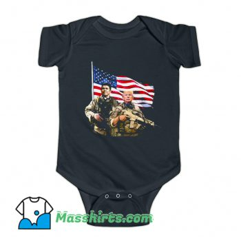 Ronald Donald Trump USA Flag Baby Onesie