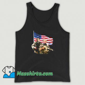Ronald Donald Trump USA Flag Tank Top