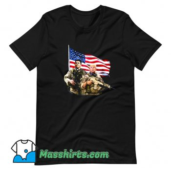 Vintage Ronald Donald Trump USA Flag T Shirt Design