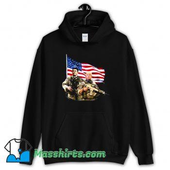 Cheap Ronald Donald Trump USA Flag Hoodie Streetwear