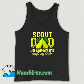 Scout Dad Cub Leader Boy Camping Tank Top