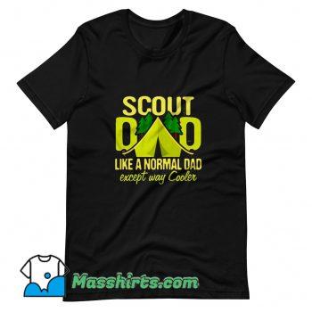 Scout Dad Cub Leader Boy Camping T Shirt Design