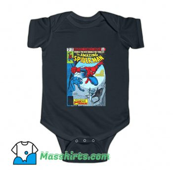 Cartoon Spider-Man Comic Book Cover Baby Onesie