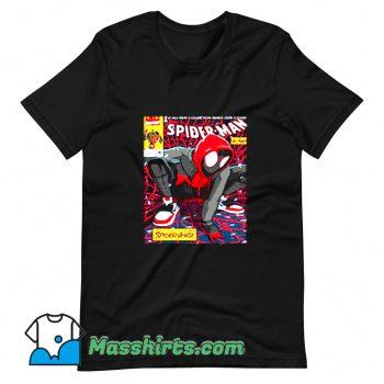 Funny Spider-Man Miles Morales T Shirt Design