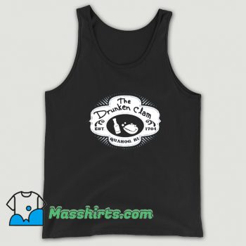 Funny The Drunken Clam Est 1704 Tank Top