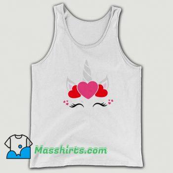 Unicorn Valentine Day Cute Tank Top