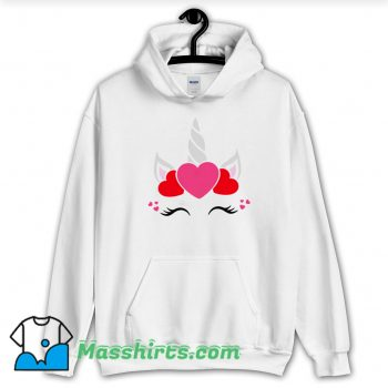 Unicorn Valentine Day Hoodie Streetwear On Sale