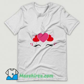 Unicorn Valentine Day T Shirt Design