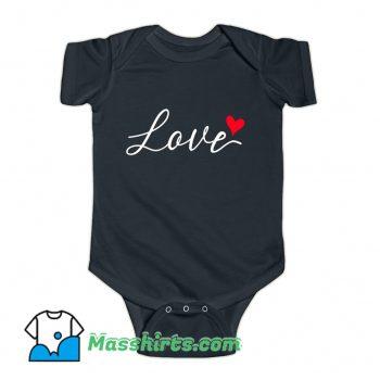 Valentine Day Love Heart Classic Baby Onesie