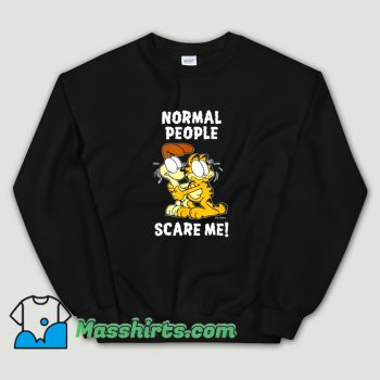 Vintage Normal People Scare Me Garfield Sweatshirt