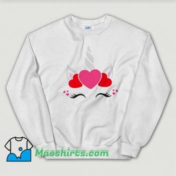 Vintage Unicorn Valentine Day Sweatshirt