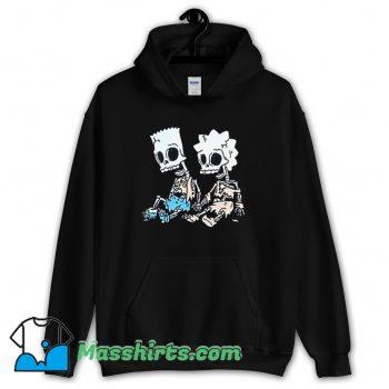 Awesome The Simpsons Bart and Lisa Skeletons Hoodie Streetwear