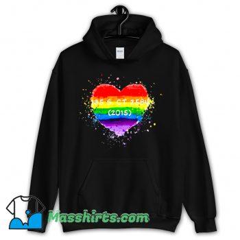 Best Pride Watercolor Heart Hoodie Streetwear