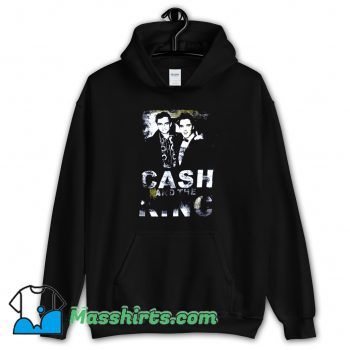 Cheap Johnny Cash X Elvis Cash Hoodie Streetwear