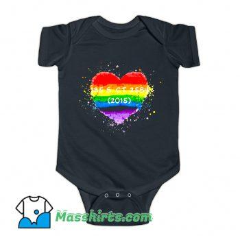 Cool Pride Watercolor Heart Baby Onesie