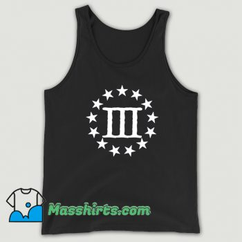 Cool Three Percenter God Country Family Tank Top
