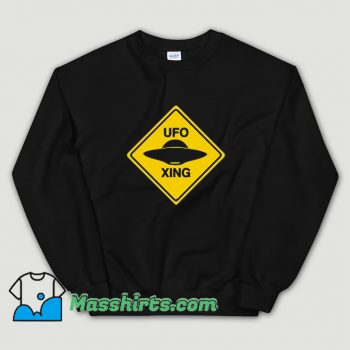Cool Ufo Xing Retro 80s Sweatshirt