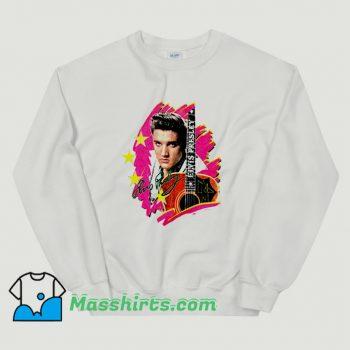 Elvis Presley The King With Guitar Classic Sweatshirt