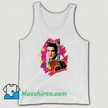 Funny Elvis Presley The King With Guitar Tank Top