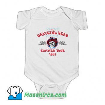 Grateful Dead Summer Tour 1987 Baby Onesie