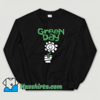 Green Day Flower Pot Sweatshirt On Sale