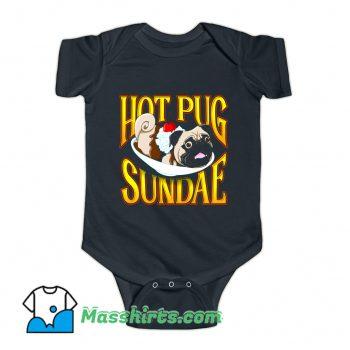 Hot Pug Sundae Vintage Baby Onesie