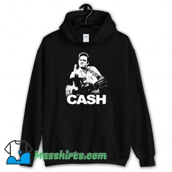 Johnny Cash Middle Finger Rock Funny Hoodie Streetwear