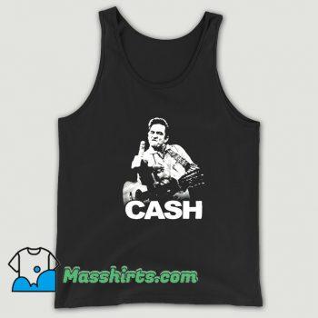 Johnny Cash Middle Finger Rock Tank Top On Sale
