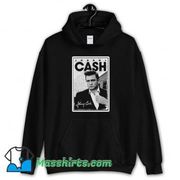 Johnny Cash Signature Hoodie Streetwear