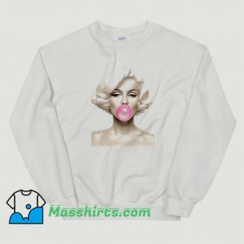 Marilyn Monroe Bubble Gum Cute Sweatshirt