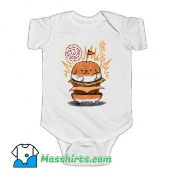 New Shiba Burgers Baby Onesie