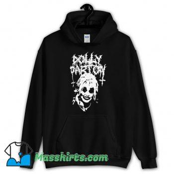 Original Dolly Parton Black Metal Hoodie Streetwear