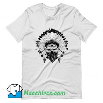Original Indian Skull Rag T Shirt Design