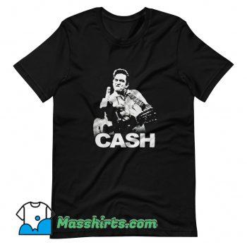 Original Johnny Cash Middle Finger Rock T Shirt Design