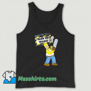 Original Simpsons Homer Man Work Tank Top