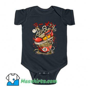 Ramen Sneaker Funny Baby Onesie
