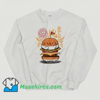 Shiba Burgers Funny Sweatshirt