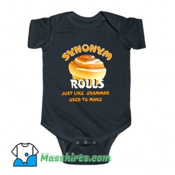 Synonym Roll Just Like Grammar Used To Make Baby Onesie
