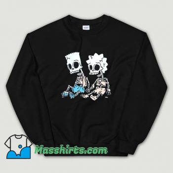 The Simpsons Bart and Lisa Skeletons Sweatshirt