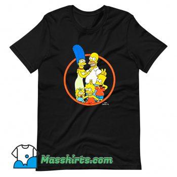 The Simpsons Family Photo Big Boys T Shirt Design