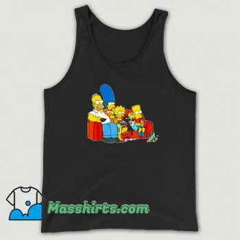The Simpsons Homer Marge Maggie Tank Top