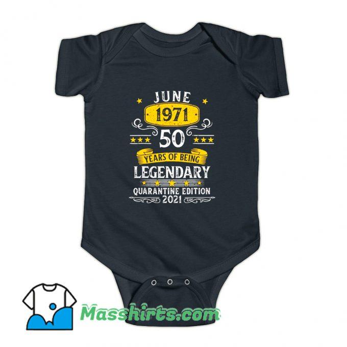 50 Years Old June 1971 Baby Onesie