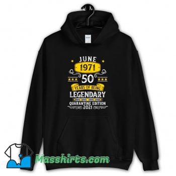 50 Years Old June 1971 Classic Hoodie Streetwear