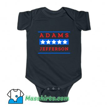 American History Buff Adams Jefferson Baby Onesie